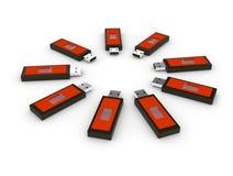 Usb flash memory Stock Images