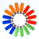 USB flash memory Stock Image