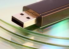 Usb flash memory close-up shot Royalty Free Stock Image