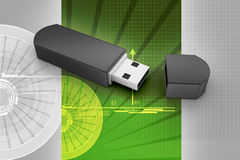 Usb flash memory Stock Image
