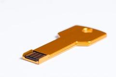 USB flash memory stick key Stock Photo