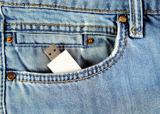 USB Flash in the Pocket Royalty Free Stock Image