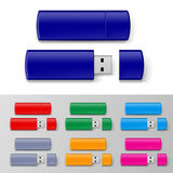Usb flash set Royalty Free Stock Images