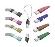 USB-Flash-Speicher auf einem weißen Hintergrund Stockbilder