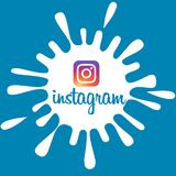 Instagram banner royalty free stock photos