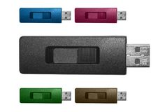 USB flitsaandrijving Royalty-vrije Stock Afbeelding