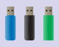USB flitsaandrijving Stock Afbeelding