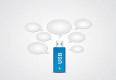 USB flitsgeheugen vector illustratie