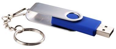 USB-geïsoleerde flitsopslag Stock Foto's