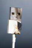 USB-geschroeid hoofd Stock Afbeeldingen
