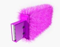 USB glamur. Art USB-flash, The slogan: purchase and sale stylish usb Royalty Free Stock Images