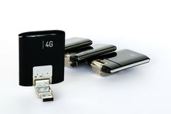 USB GPRS 3G 4G radiomodem arkivbild