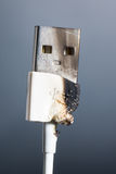 USB head scorched Stock Images