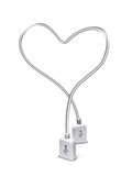 Usb heart Royalty Free Stock Photography
