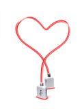 Usb heart Stock Photo