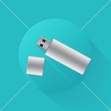 USB-het pictogram van de Flitsaandrijving Royalty-vrije Stock Foto