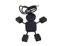 USB Hub  in the form of the little man 2 Royalty Free Stock Photo