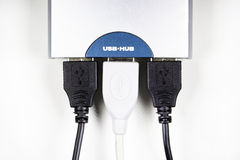 USB-hub isolated Royalty Free Stock Image