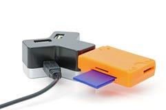 USB-HUB und Karteleser Lizenzfreie Stockfotos