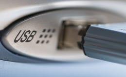 USB hub with USB stck Stock Photos