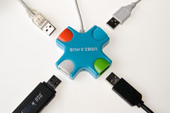 Usb hub Stock Photography