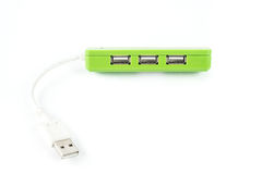 Usb hub on white isolated Stock Photography