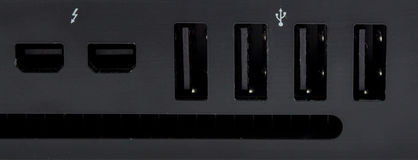USB i piorunu port Zdjęcia Royalty Free