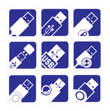 Usb icons Stock Photos