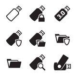 Usb icons Royalty Free Stock Photos