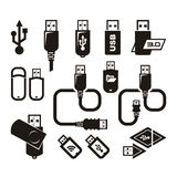 USB Icons. Vector Format Royalty Free Stock Image