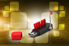 Usb with internet connection Stock Photos