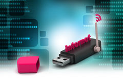 Usb with internet connection Stock Photo