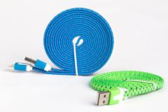 USB kabel royaltyfri bild