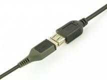 USB kabel Arkivbild