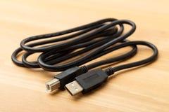 USB kabel Zdjęcia Royalty Free