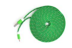 USB kabel Fotografering för Bildbyråer