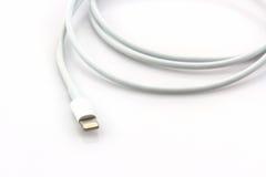 USB kabel dla smartphone Zdjęcia Stock