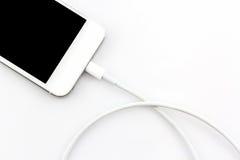 USB kabel för smartphone Fotografering för Bildbyråer