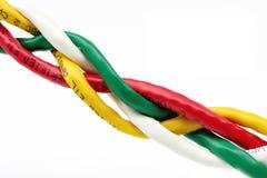 USB kabel isolerad vit bakgrund Fotografering för Bildbyråer