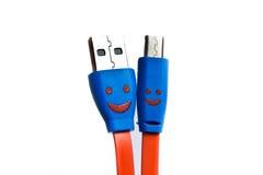 USB-Kabel oder -schnur für die Aufladung. Stockfotos