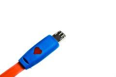 USB-Kabel oder -schnur für die Aufladung. Stockfoto