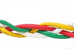 USB kabel   vit bakgrund Arkivbilder