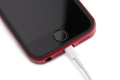 USB-kabel voor smartphone Stock Foto