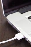 USB kabla port Obrazy Royalty Free