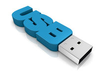 Usb key concept. One usb key made with the word: usb (3d render Stock Photo