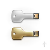 USB Key Flash Drive Stick Memory Vector Isolated Royalty Free Stock Image