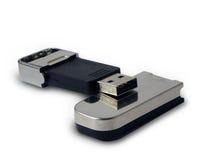 USB key isolated on white Stock Photography