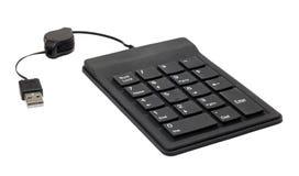 USB keypad. Small USB keyboard isolated on white royalty free stock image