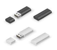 USB kija błysku przejażdżka Obraz Stock