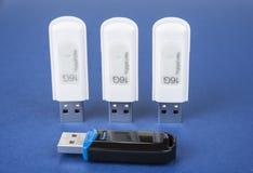 USB klucze save dane na bue tle Obraz Stock